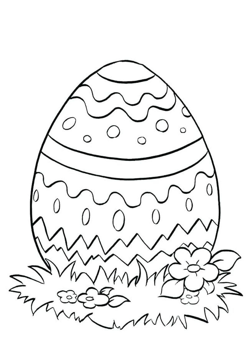 easter egg coloring pages dot markers