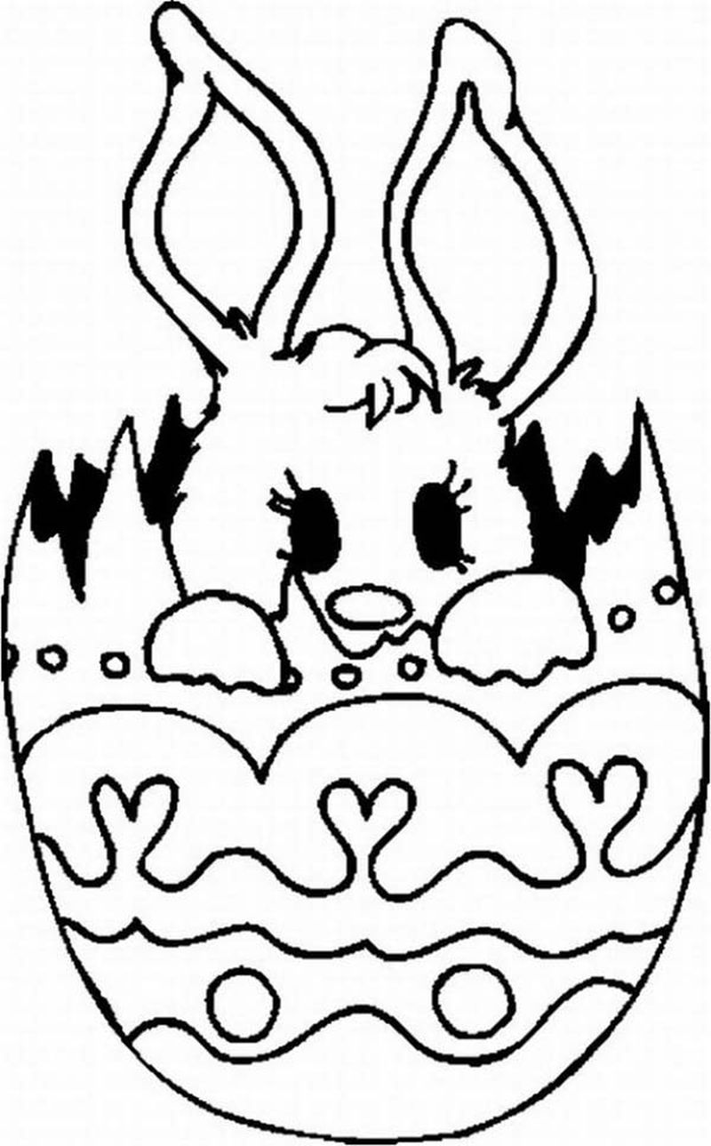 easter egg coloring pages for kids printable
