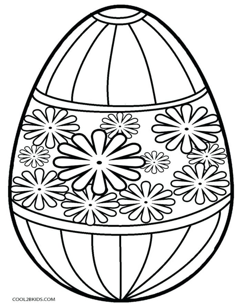 easter egg coloring pages for kids printables 23