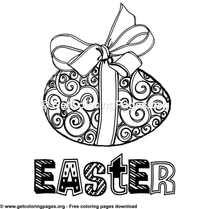 easter egg coloring pages house