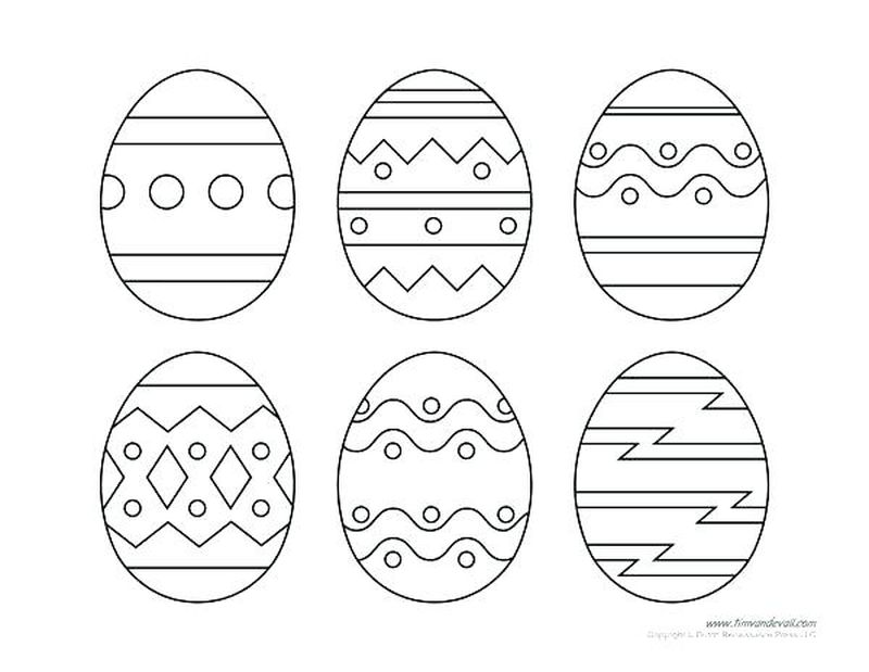 easter egg coloring pages pre k