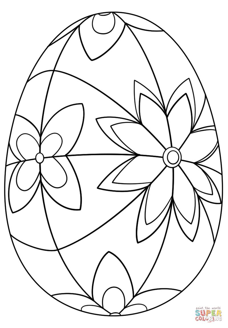easter egg cut out coloring pages
