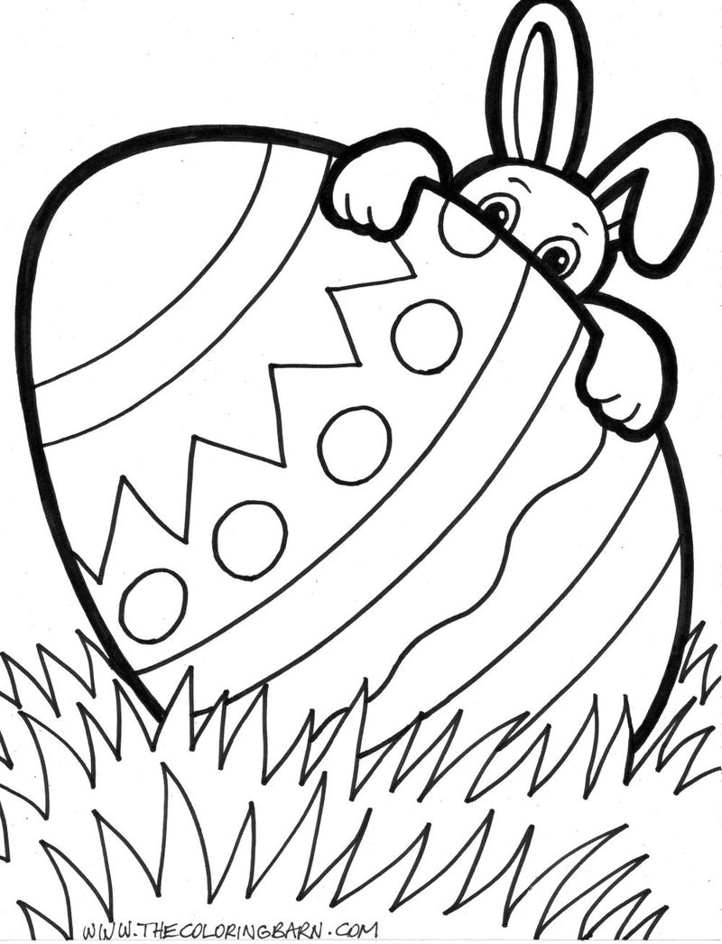 easter egg free coloring pages