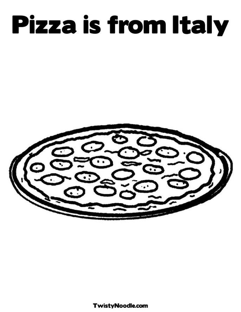 easy pizza coloring pages