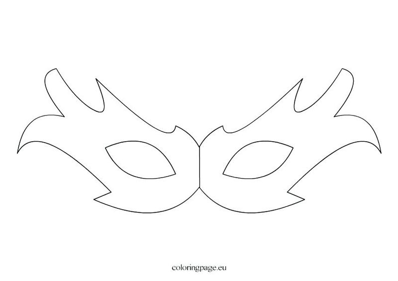 egyptian death mask coloring page