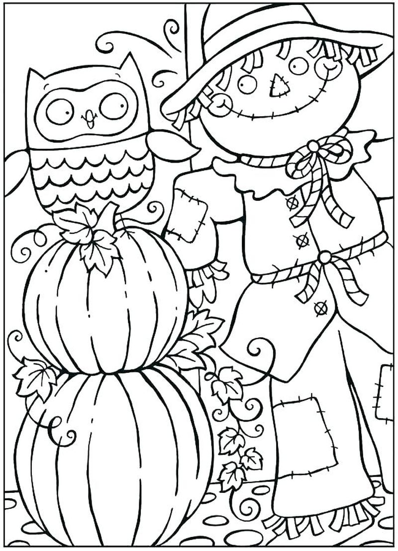 fall coloring pages for kids