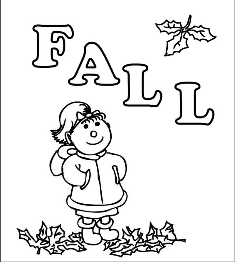 fall coloring pages preschool