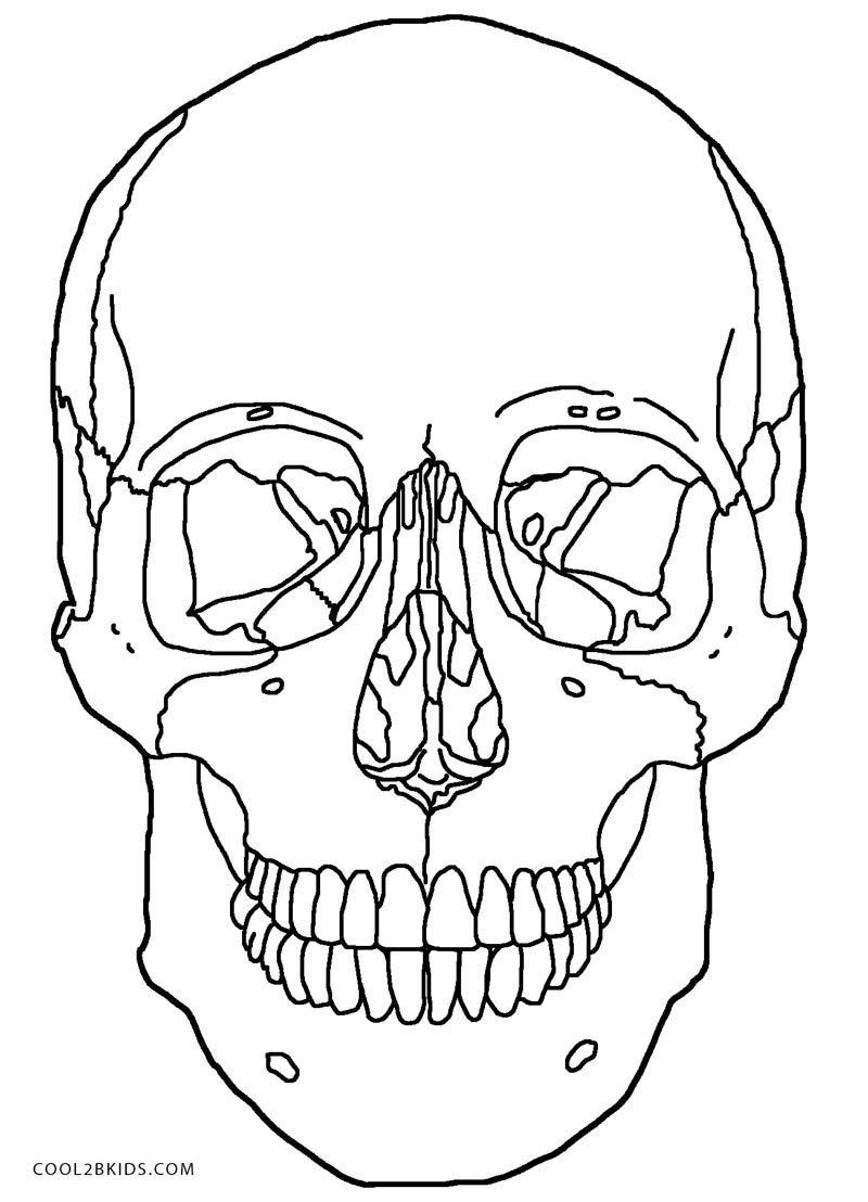 fire skeleton coloring pages Printable