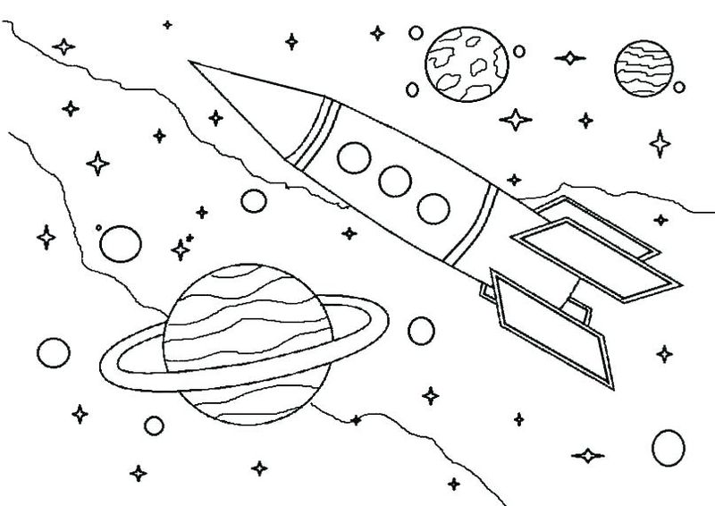 free PRINTABLE coloring pages of space designs