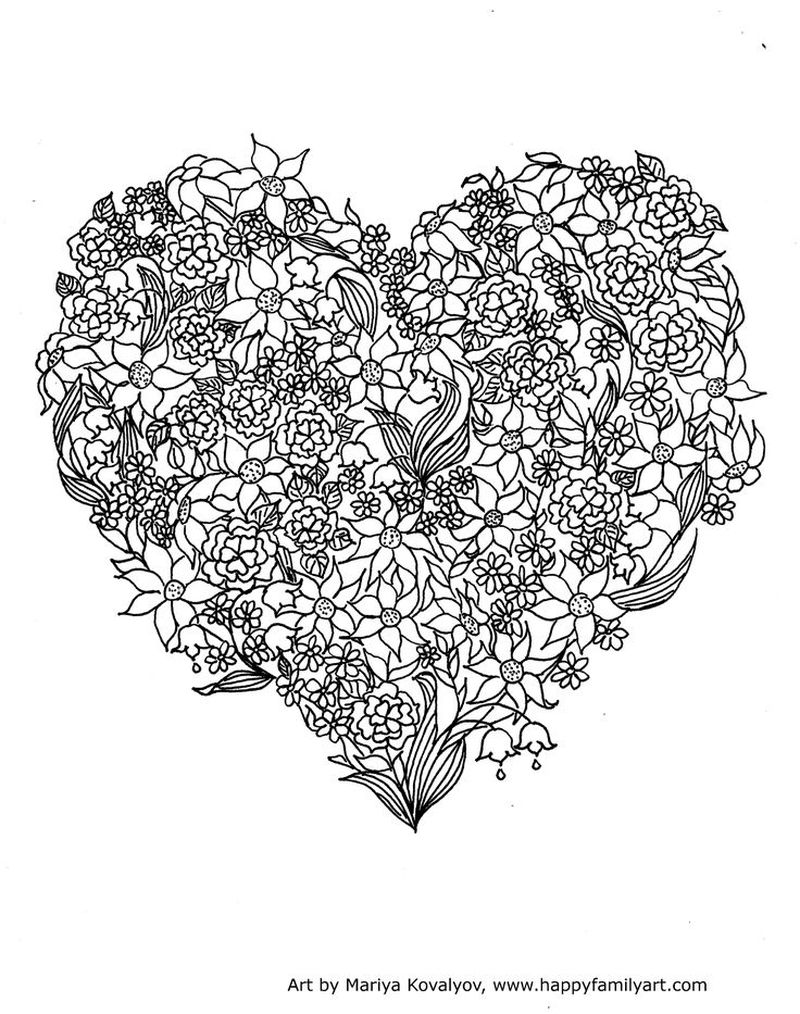 free PRINTABLE coloring pages valentines