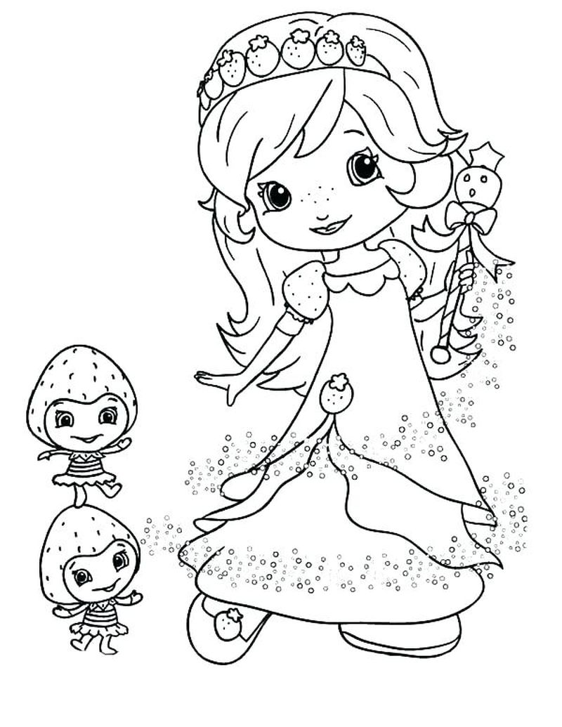 free PRINTABLE strawberry shortcake coloring pages Printable
