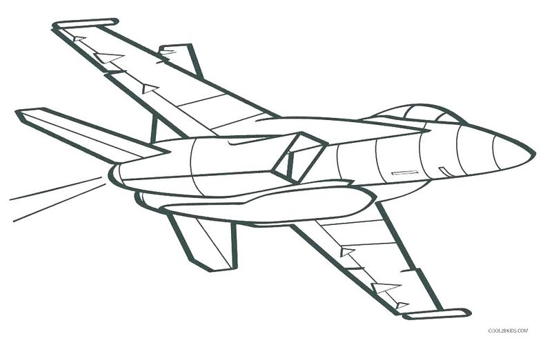 free coloring pages airplane