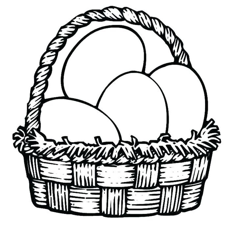 free coloring pages easter egg