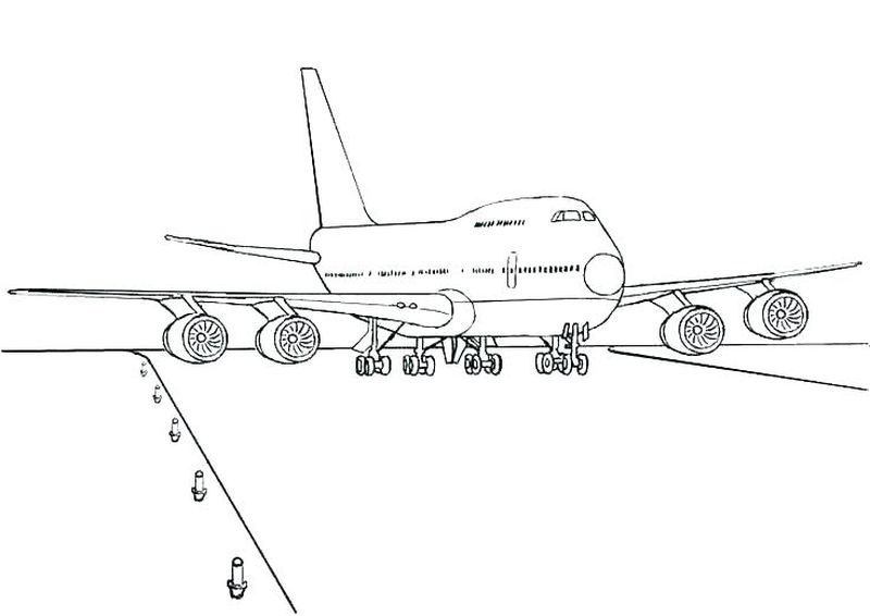 free coloring pages of planes