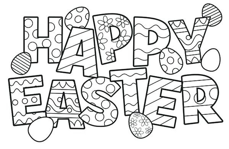 free easter egg coloring pages for kids