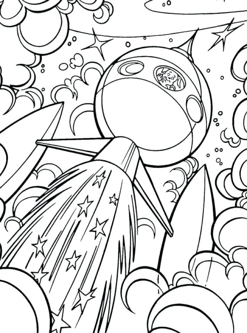 free outer space coloring pages