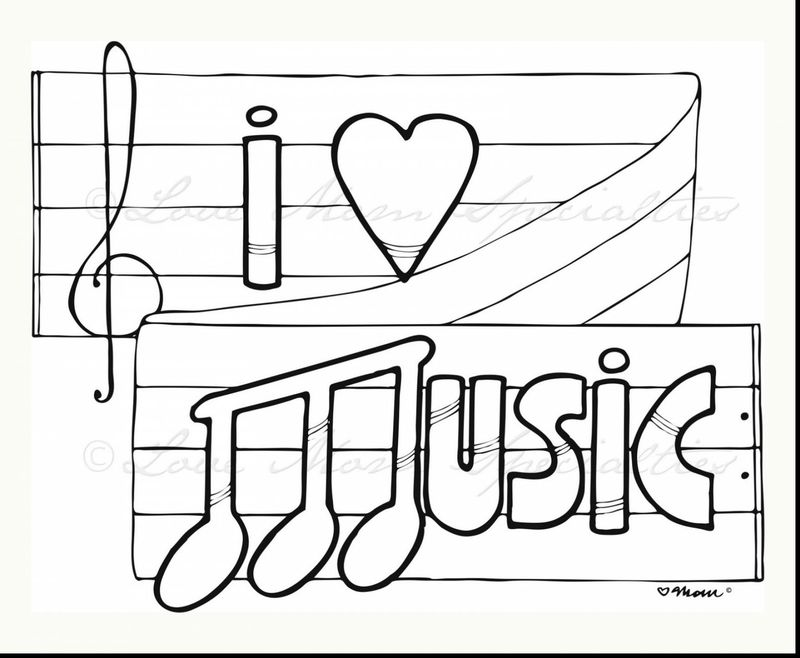 free printable coloring pages musical instruments