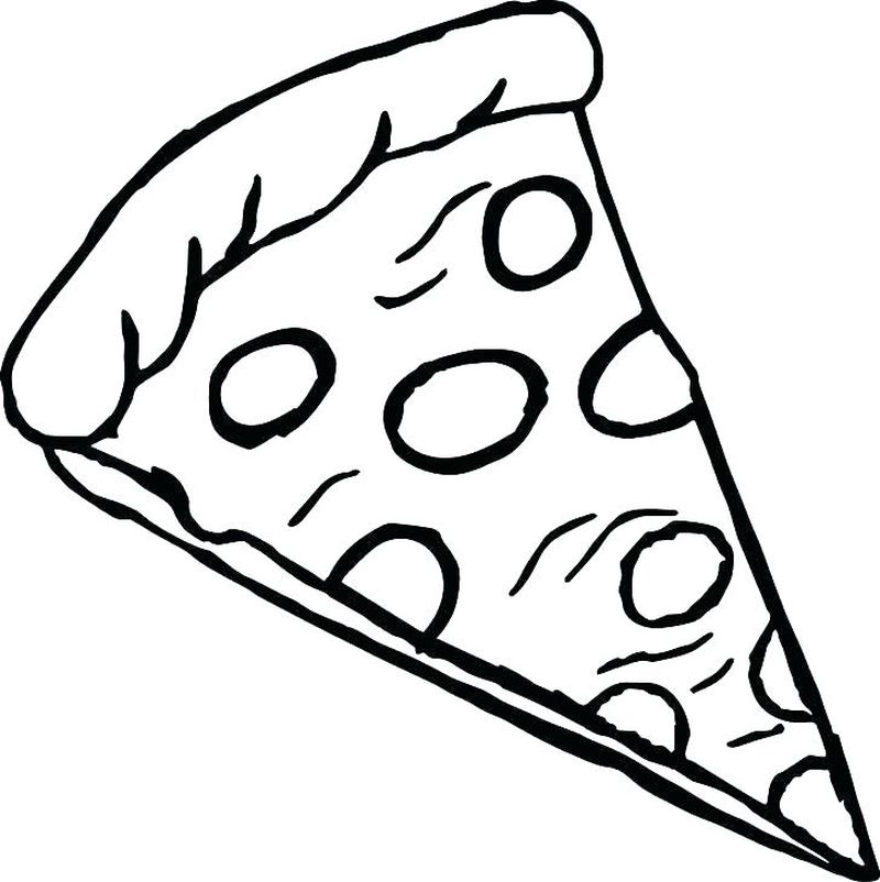 free printable coloring pages of pizza