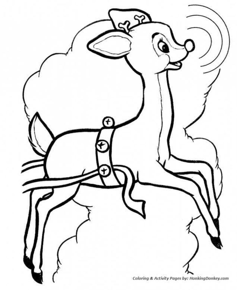 free printable coloring pages rudolph red nosed reindeer