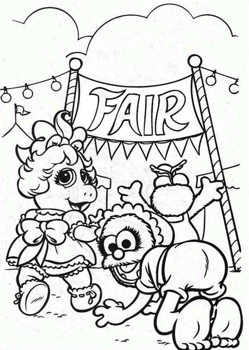 free printable muppet babies coloring pages
