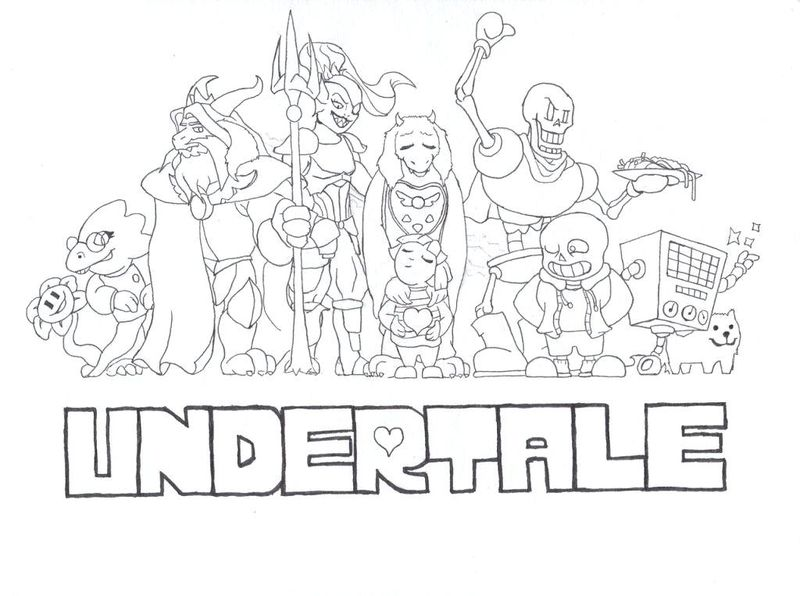 free undertale coloring pages