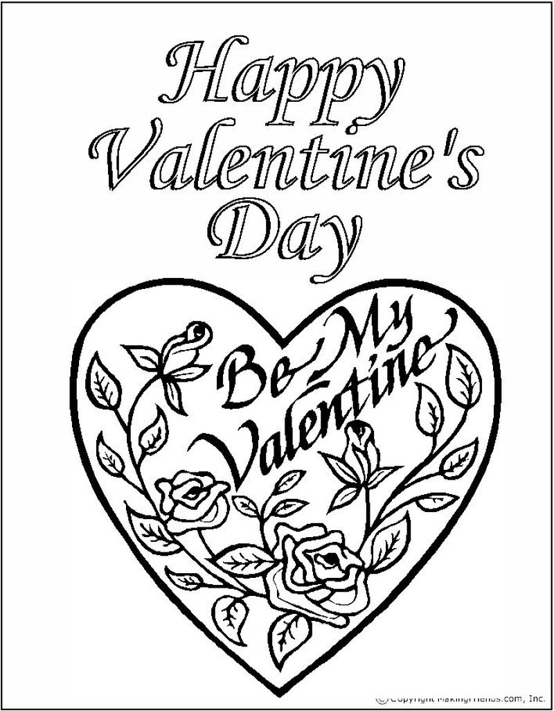 free valentines day coloring pages printable