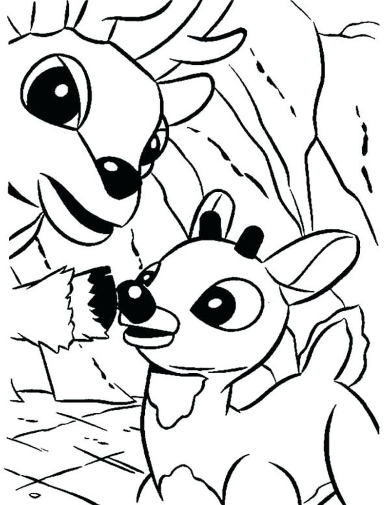 frosty and rudolph christmas coloring pages