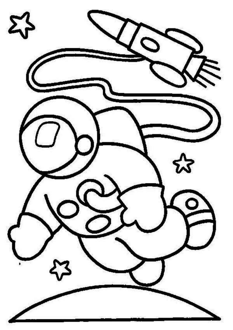 galaxy space coloring pages