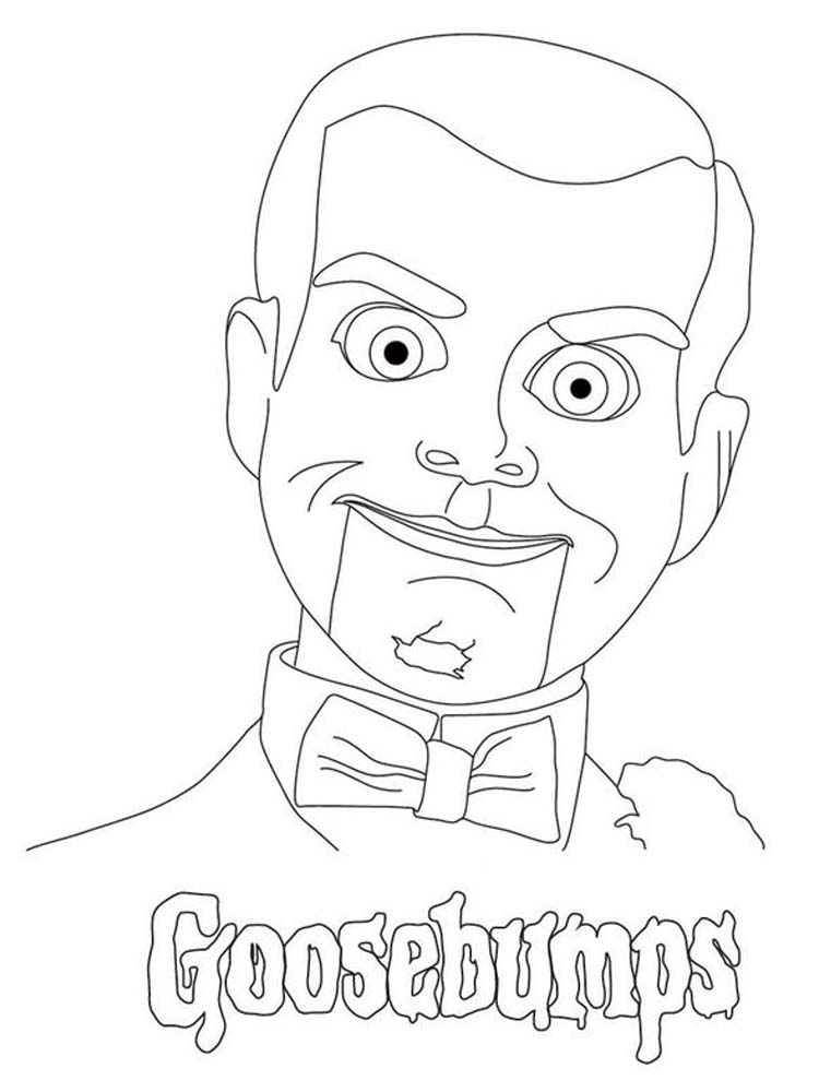 Goosebumps Character Coloring Pages Pdf - Printable ...