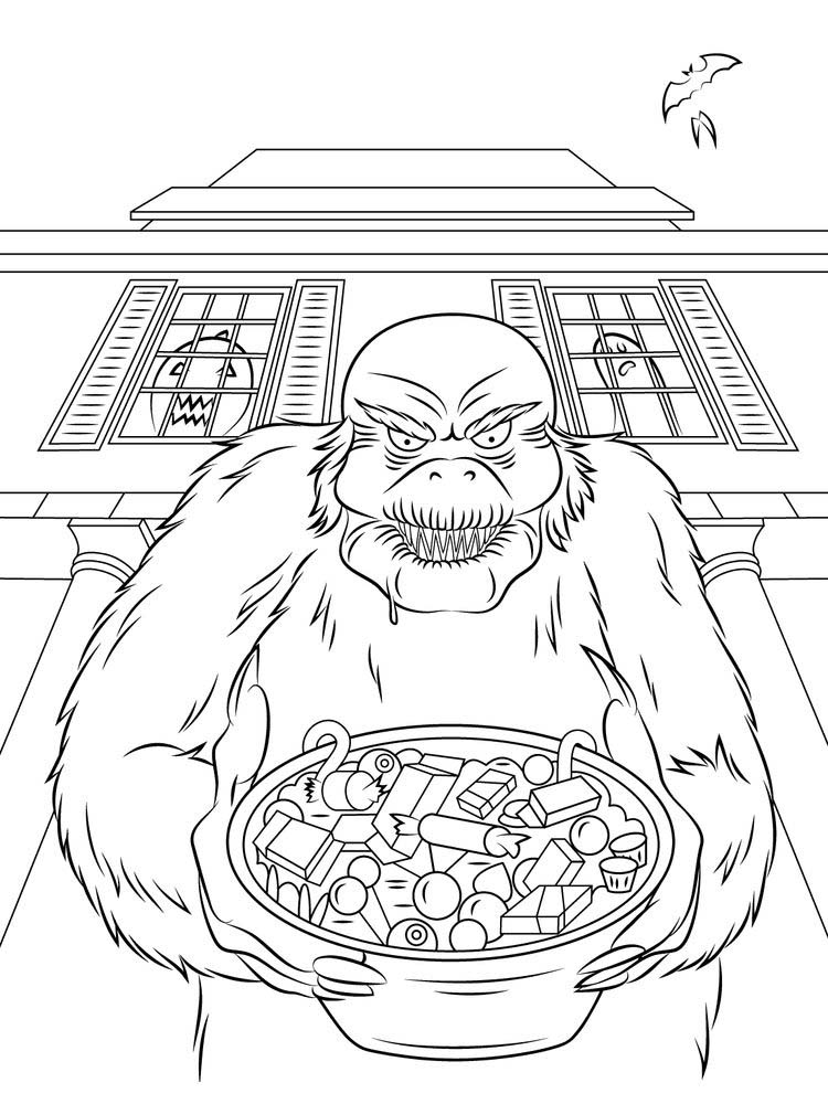 goosebumps coloring pages free print