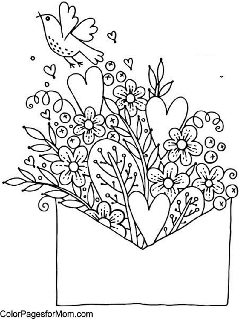 happy valentines day PRINTABLE coloring pages