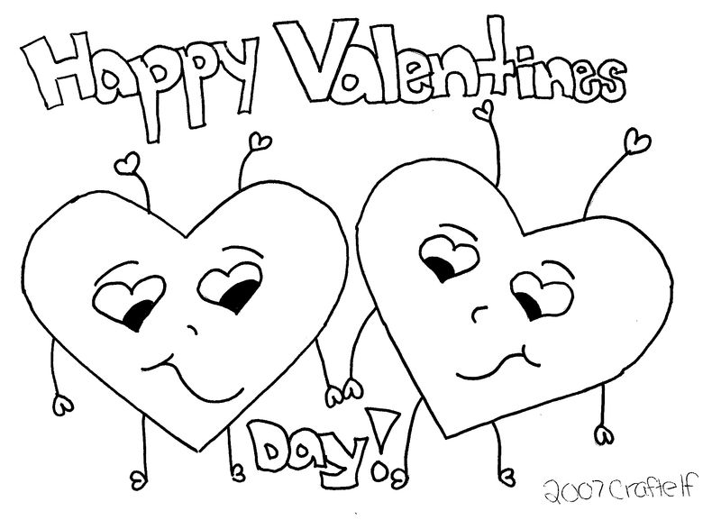 happy valentines day coloring pages Printable