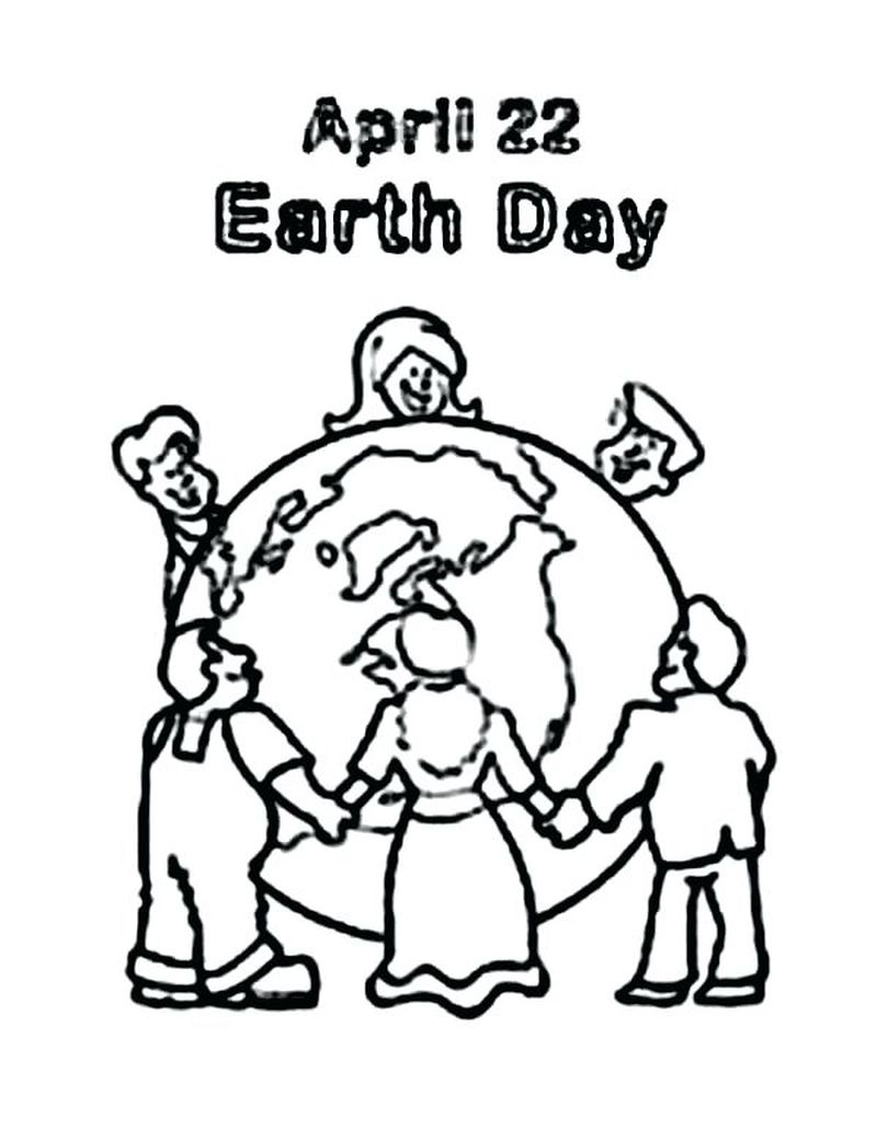 heart earth coloring pages