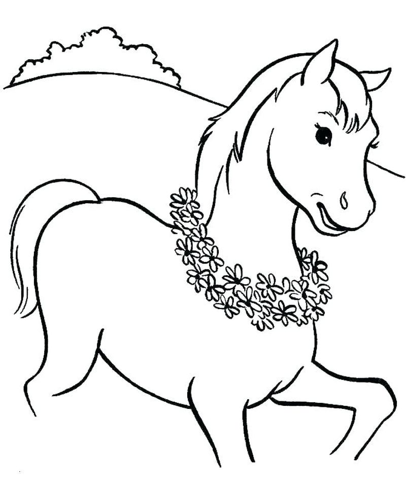 horse coloring book pages