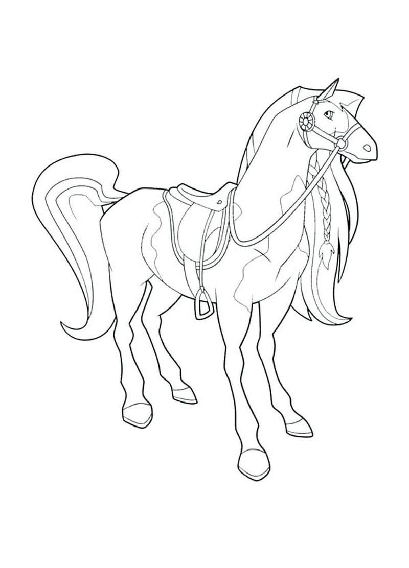 horse coloring pictures to print