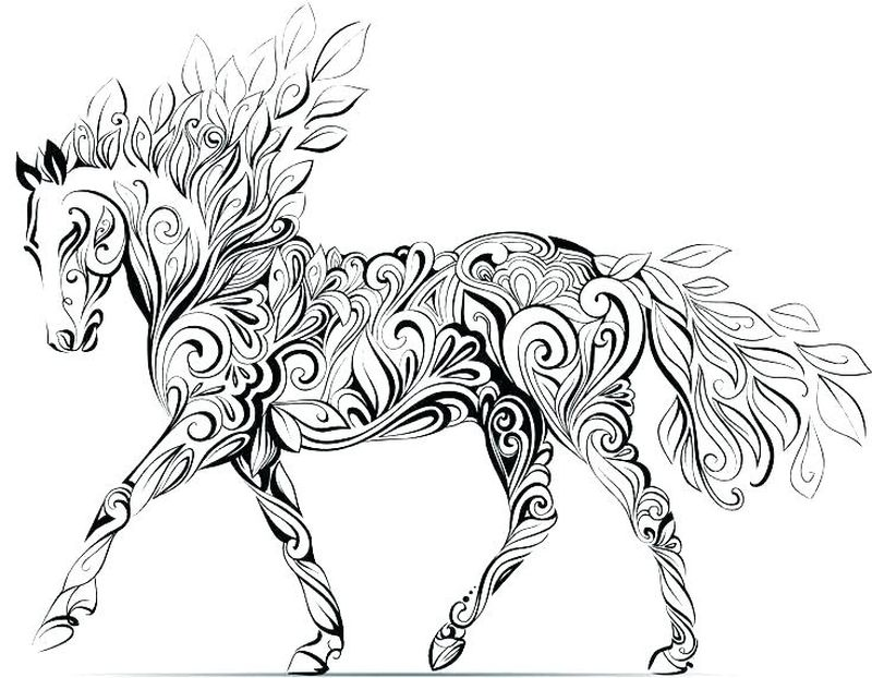 horse colring page