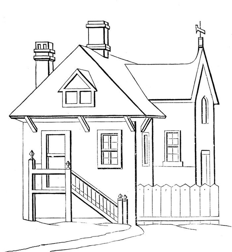 house coloring sheet