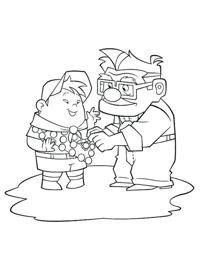 house from up coloring page Printable