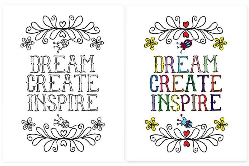 inspirational coloring pages for kidsPrintable