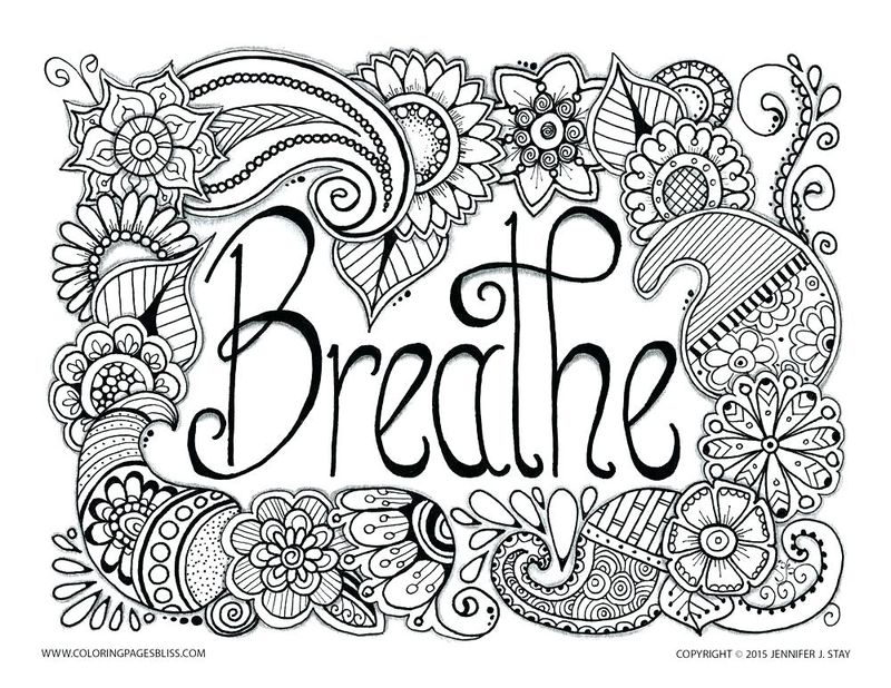inspirational hard coloring pages