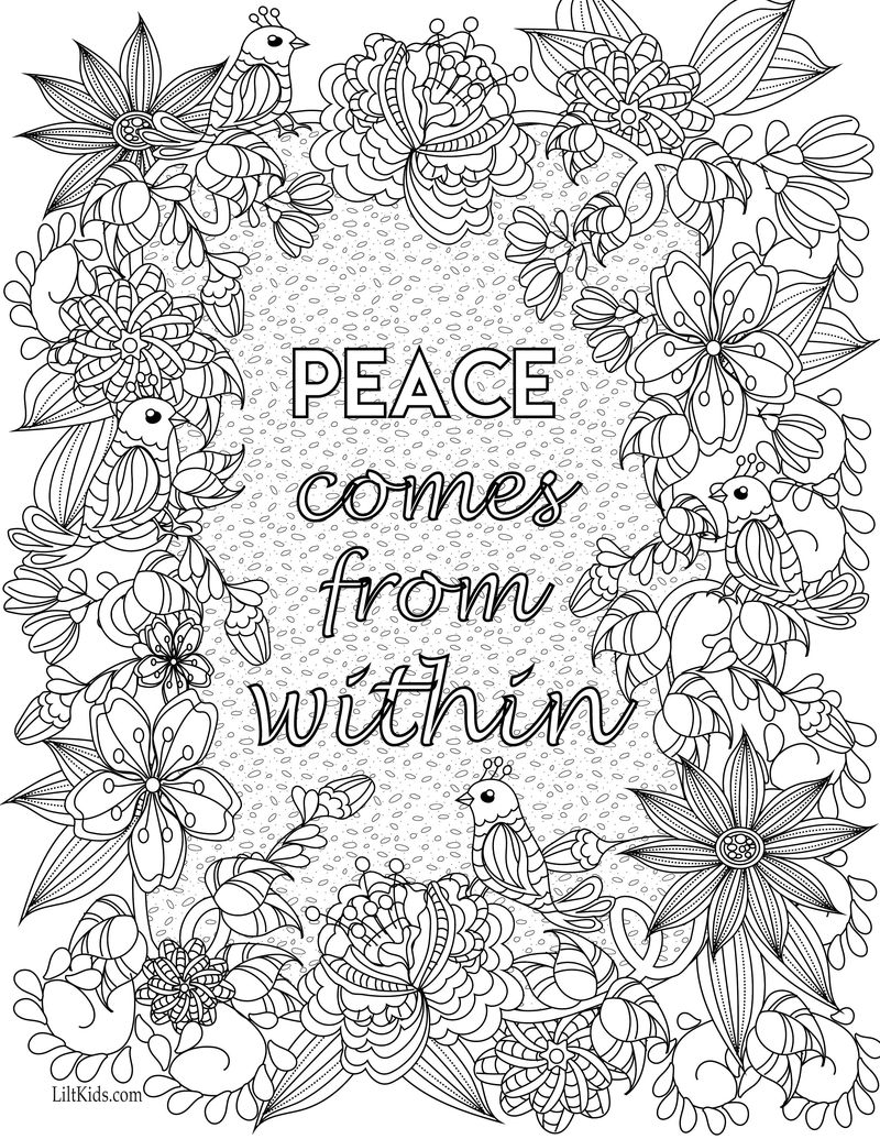 inspirational quotes about being strong coloring pagesPrintable