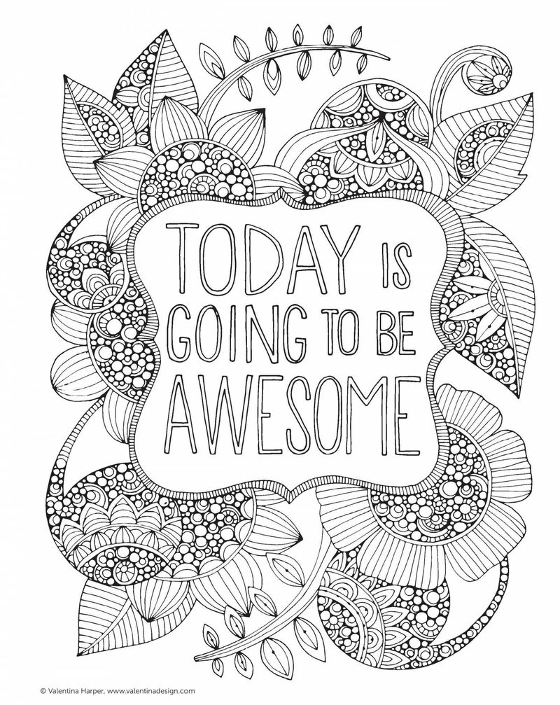 inspirational quotes adult coloring pagesPrintable