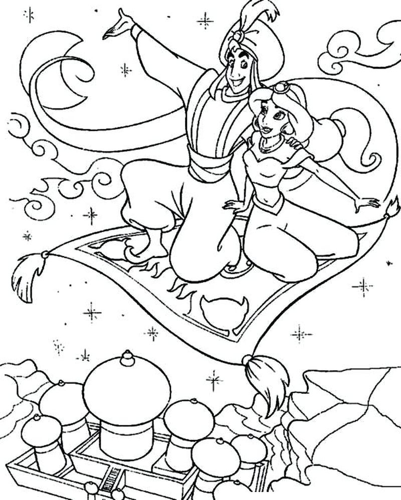 jasmine printable coloring pages
