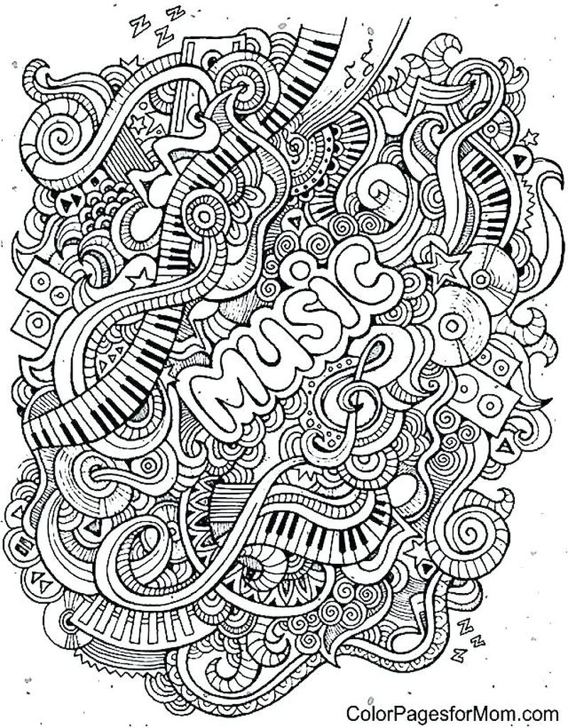 jazz music coloring pages