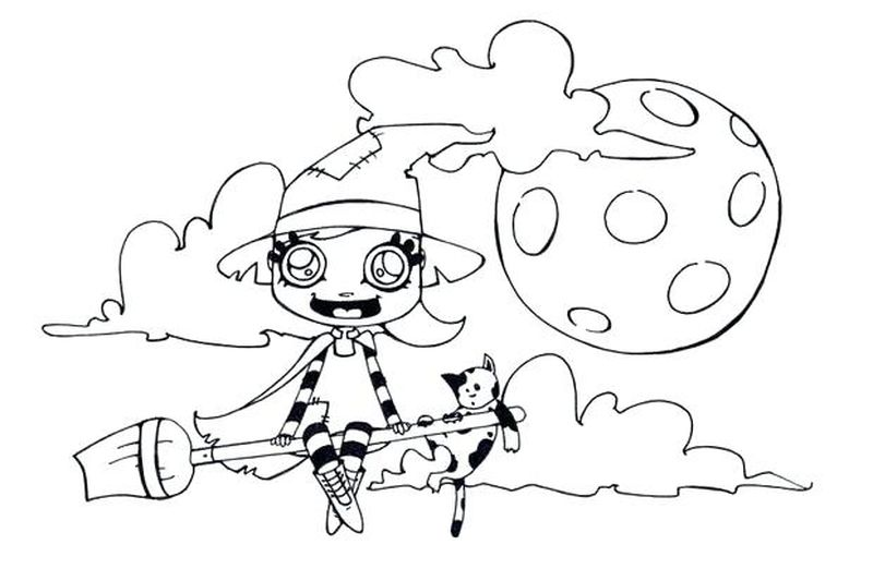 kids zombie skeleton coloring pages