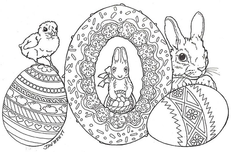 large easter egg coloring pages