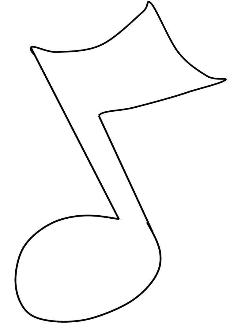 large music note coloring pages