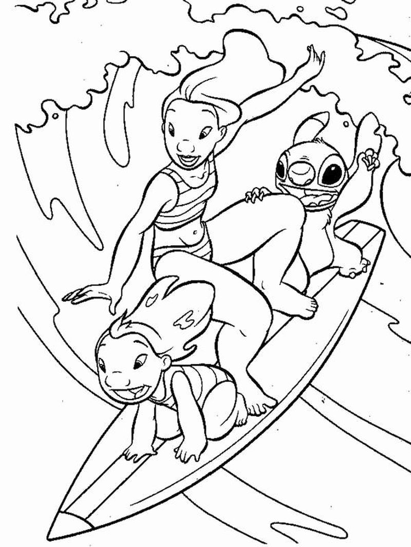 lilo and stitch coloring pagePrintable