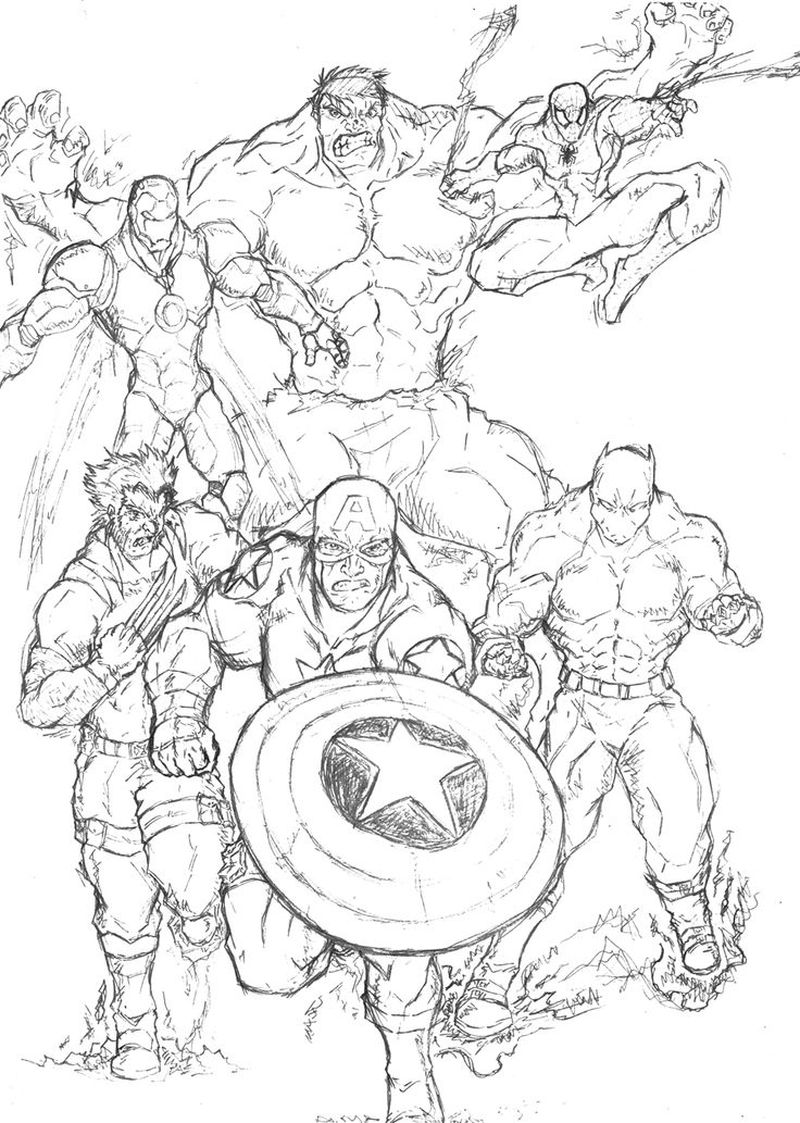 marvel and dc coloring pages