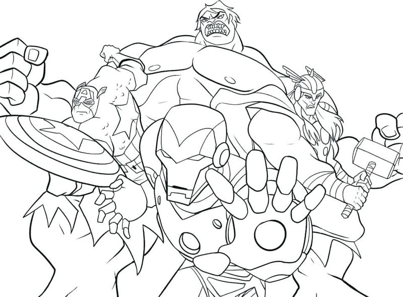 marvel cartoon coloring pages